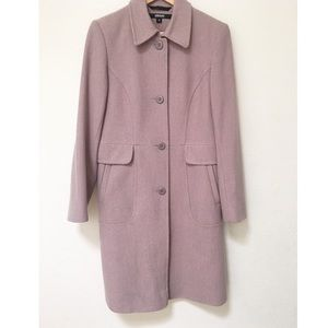 DKNY Long Pea Coat Blush Pink
